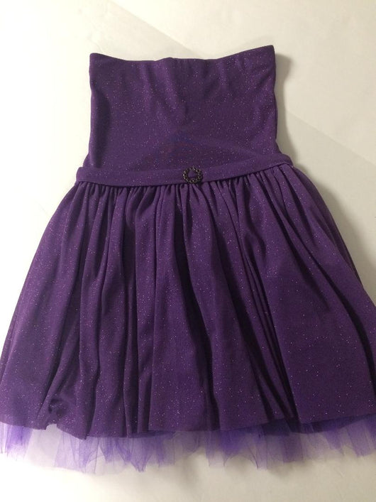 Grape Glitter Party Dress