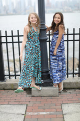 Turquoise Cheetah Hanki Maxi Dress
