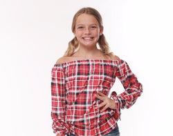 Red Plaid  Gigi Tops