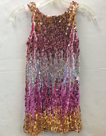 Pink Sequin Sheath Dress