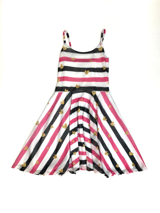 Nautical Stripe Heart Dress