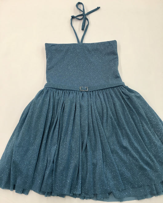 Dior Blue Glitter Party Dress