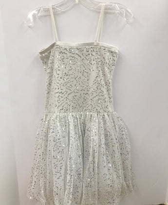 White Silver Party Dress