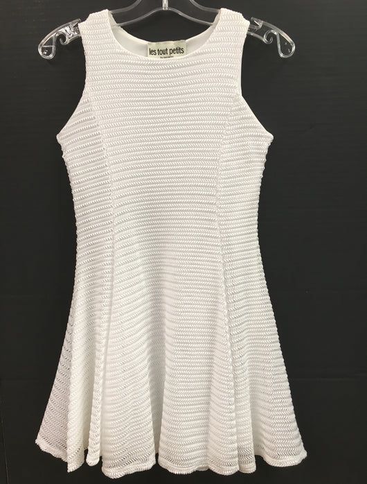 Weave White Sleeveless Fit/Flare Dress