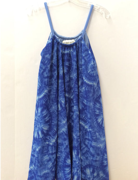 Marine Tie Dye Trapeze Dress