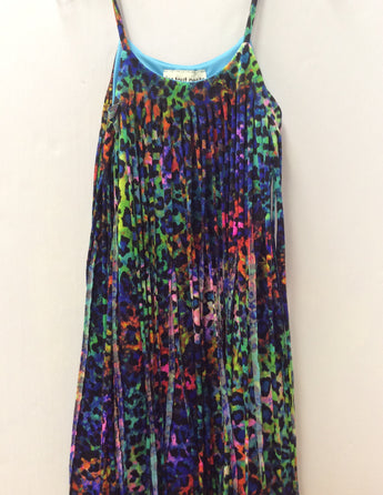 Multi Cheetah Fringe Dress