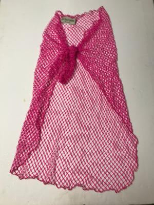 HOT PINK FISH NET SARONG