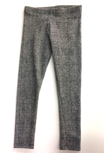 Charcoal Plaid Legging
