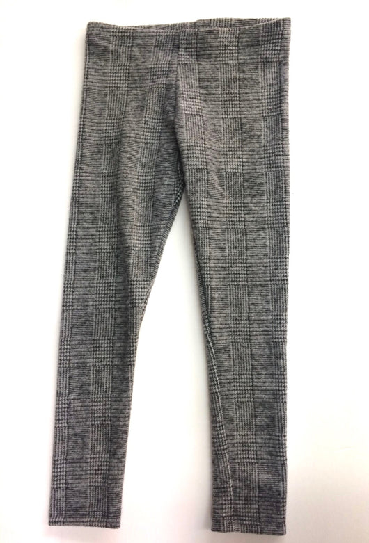 Charcoal Plaid Knit Legging