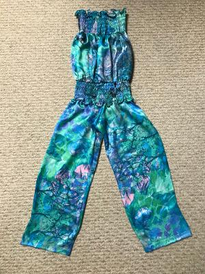 SMOCKED JUMPSUIT OCEAN REEF