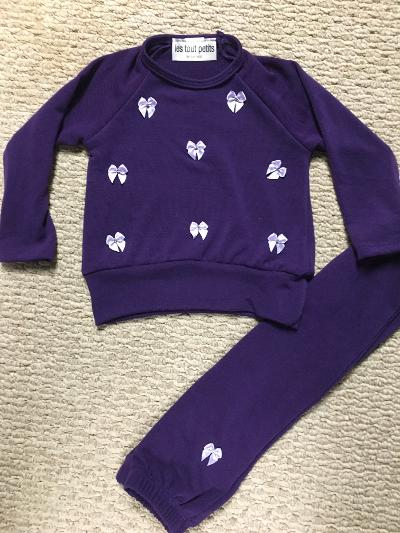 Grape Smush rhinestone bows infant