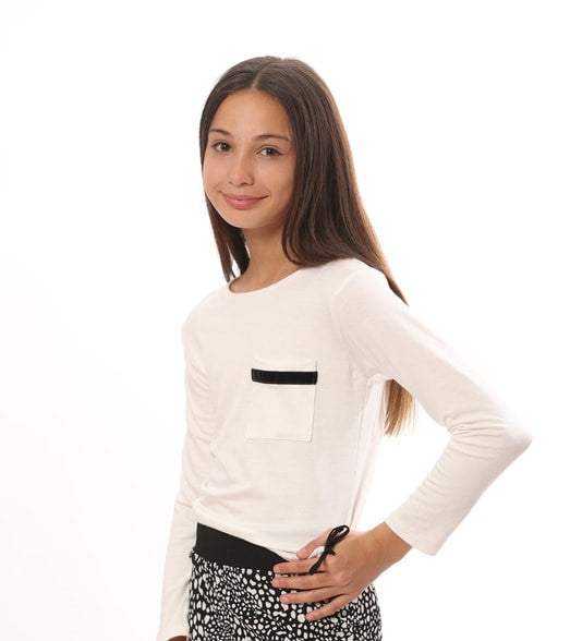 IVORY PULL STRING TOP POCKET