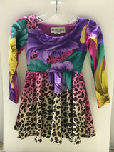 VERSACE LEOPARD L/S SWING DRESS