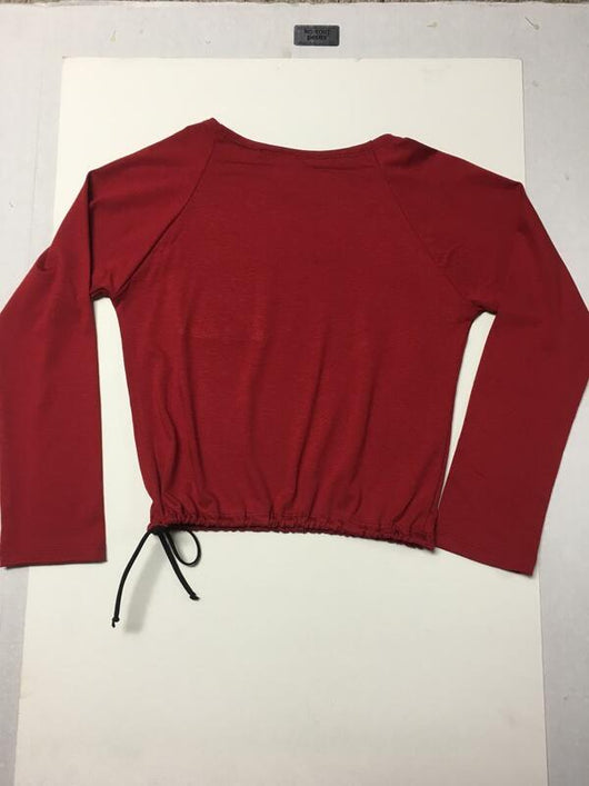 RED PULL STRING TOP