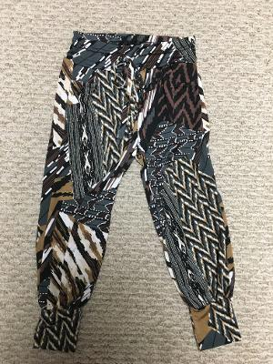 Track pocket pant earth tribal