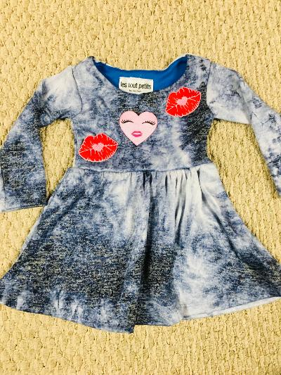 Smush Navy t/d hearts & kisses dress