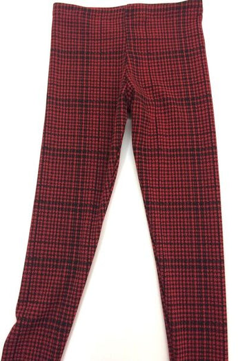 Red Houndstooth Legging