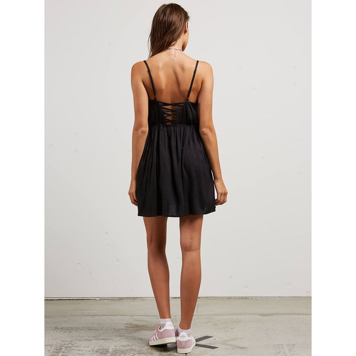 Volcom Cross Paths Black Dress - 88 Gear