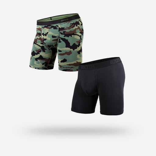 Bn3th Boxer Brief 2 Pack Black and Camo - 88 Gear
