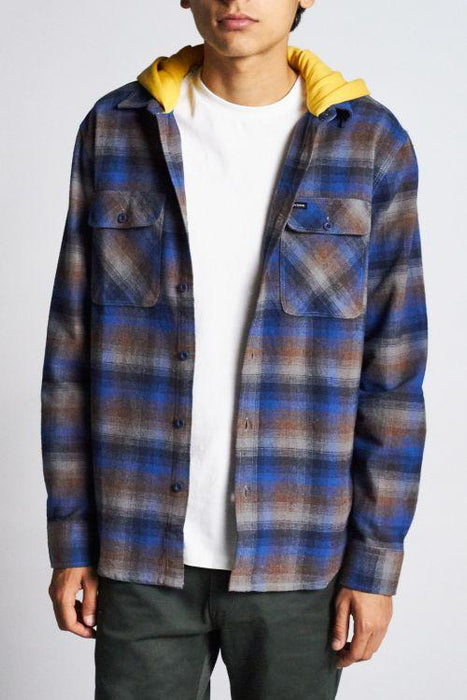 Brixton Bowery Hooded Flannel - 88 Gear