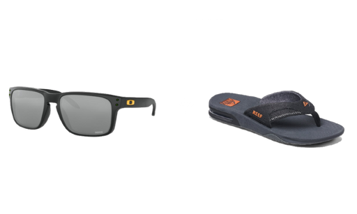 Reef Fanning Sandals and Oakley Holbrook Sunglass Package - 88 Gear