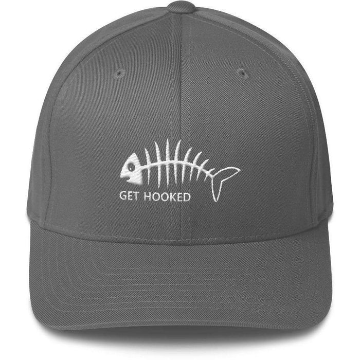 Get Hooked Fishing Flex Fit Hat - Structured Twill Cap - 88 Gear