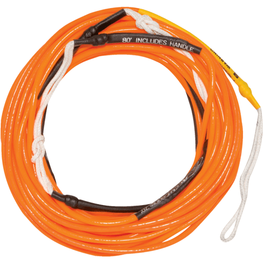 Hyperlite 80' Silicone Wake Line - Orange