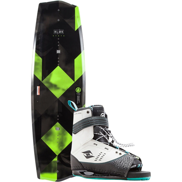 Wakeboard Package - Hyperlite State 2.0 Wakeboard Package With Focus Boots - 2018