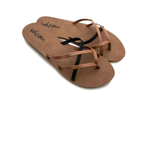 Volcom Women's New School Sandals - Brown and Black - 88 Gear
