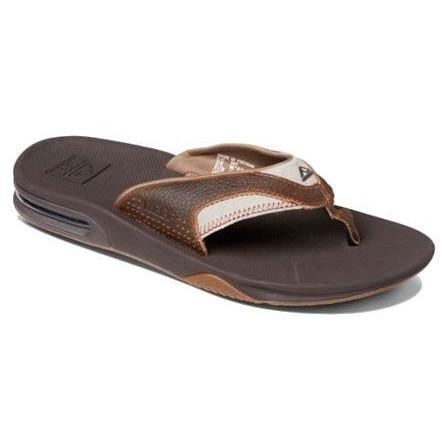 Reef Leather Fanning Sandals - Brown - Launch Cable Park