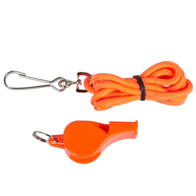 Plastic Pealess Whistle with Lanyard