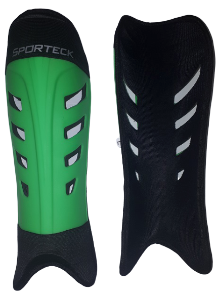 Sporteck - Green Slip In Style Shinguard