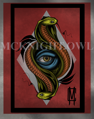 Double Cobra Print - Cameron McKnight