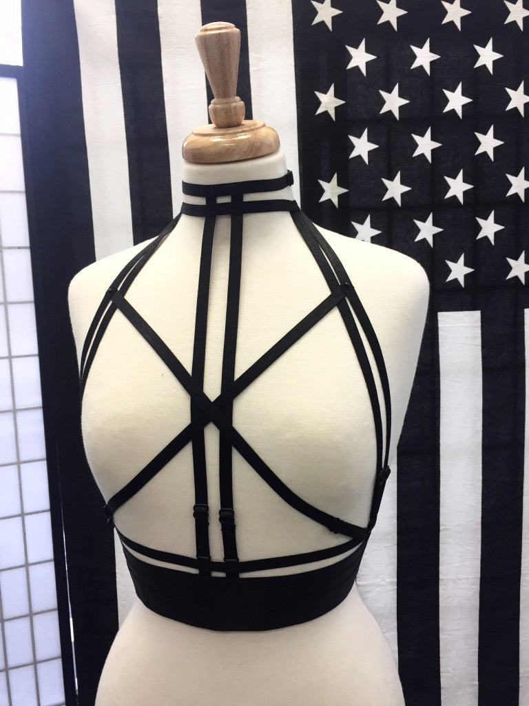 'Sarah' Harness/ Cage Bralette