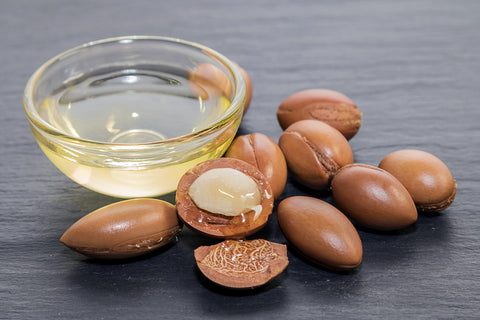 Argan oil indigenous to morocco full of squalene and rich in vitamin e which are wonderful for smoothing out skin