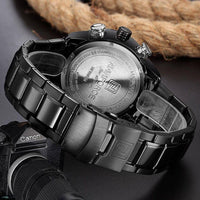 Army Men Classic Chronograph - Black & White - Mens Watches - 98apparel