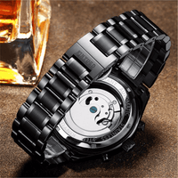 Automatic Heritage SS Black Edition - Mens Watches - 98apparel