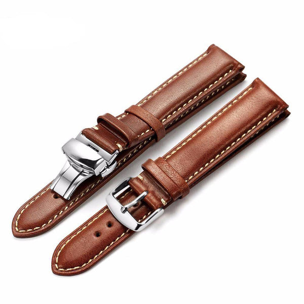 Genuine Leather Watch Strap fits 'Venice' - Brown - Watch Straps - 98apparel
