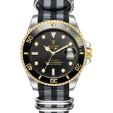 Automatic Submarine Series - Black & Gold - Watch - 98apparel