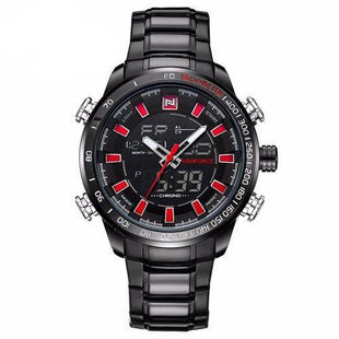 Army Men Classic Chronograph - Black & Red - Mens Watches - 98apparel