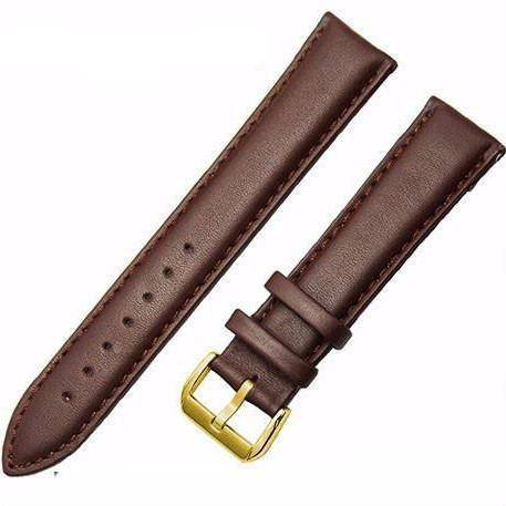 Genuine Leather Watch Strap - Brown, Band Width - 18mm