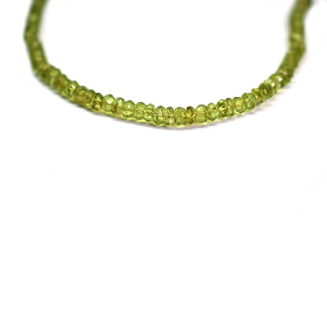 Peridot Round Faceted Beads Necklace