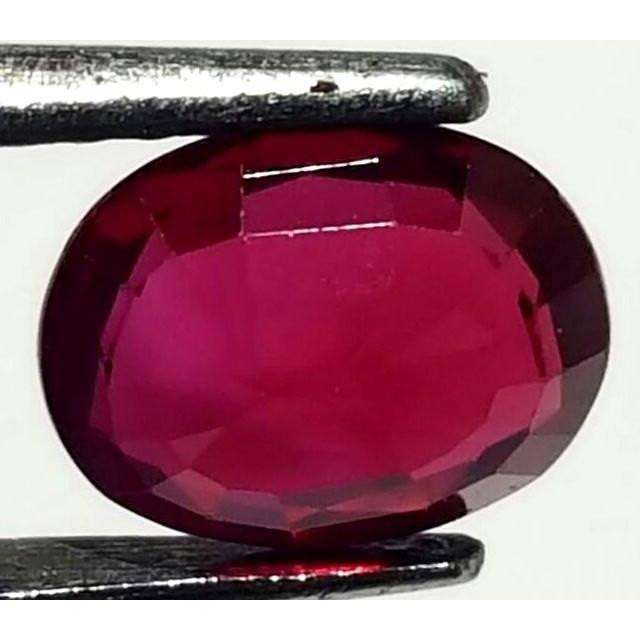1.06 Ct Rare Natural Certified Red Sapphire Oval Shape 7.03 X 5.63 X 2.76 MM