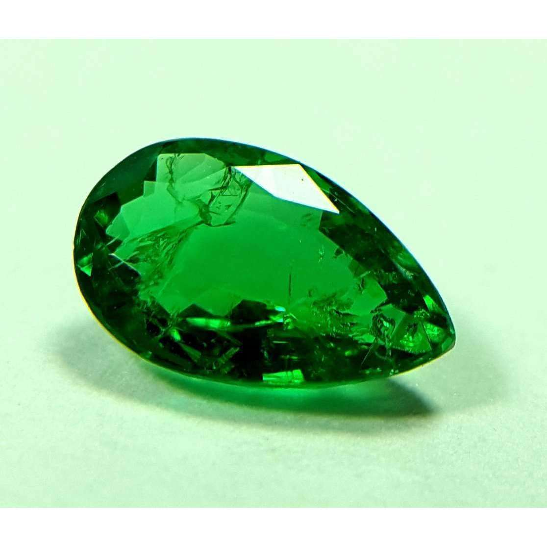 0.55 CT Natural Highest Luster Zambian Emerald 7 X 4.5 X 2.8 MM For Ring & Pendant