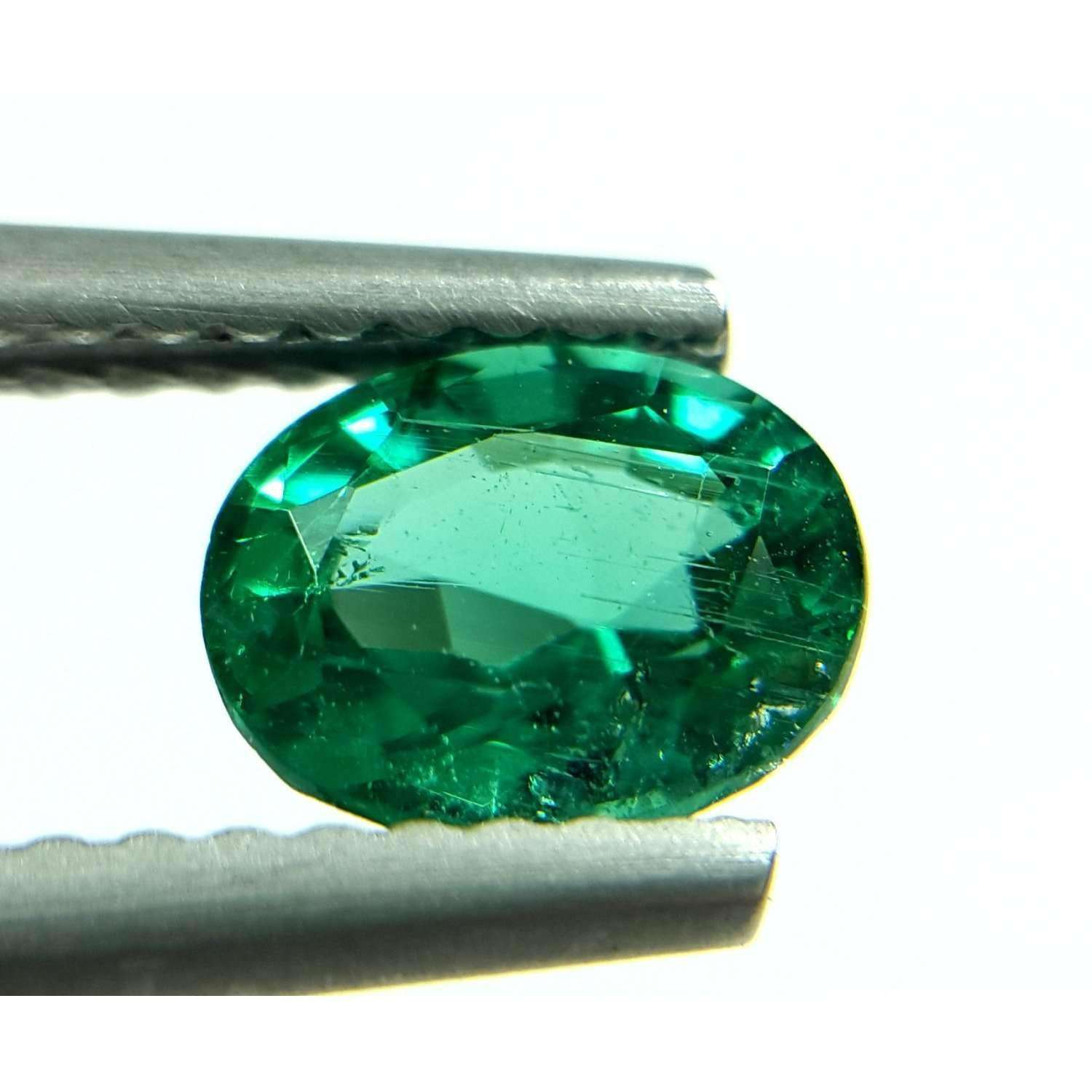 0.80 CT Natural High Luster Zambian Emerald 7 X 5 X 4 MM For Ring & Pendant