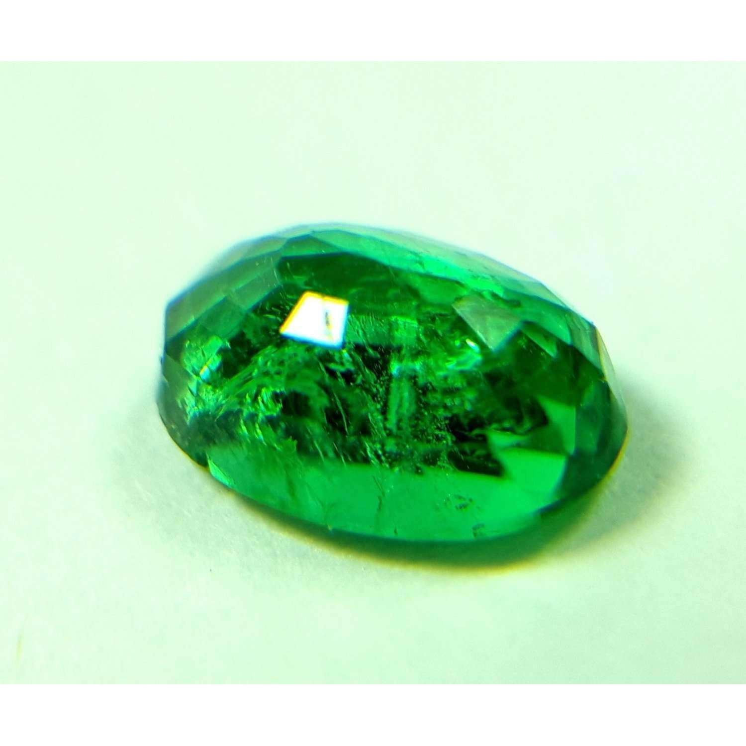 0.80 CT Natural High Luster Zambian Emerald 7 X 5 X 3 MM For Ring & Pendant