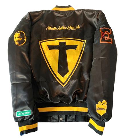 Image of DETROIT HIGH SCHOOL SATIN BOMBER JACKETS