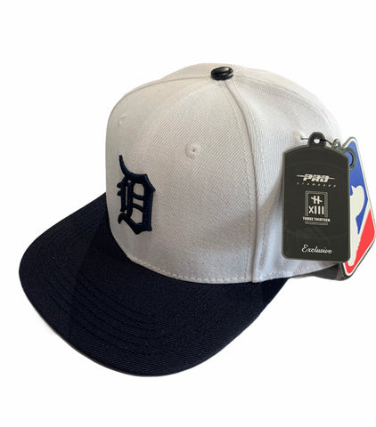 Image of Three-Thrirteen X Pro Standard Tigers baseball hat FOUR time World Series champions