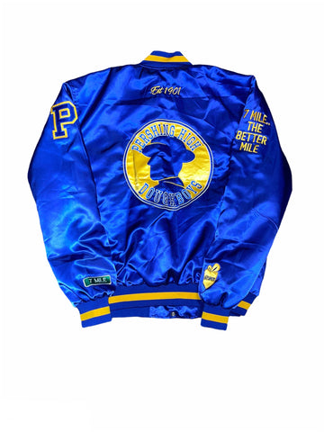 DETROIT HIGH SCHOOL SATIN BOMBER JACKETS