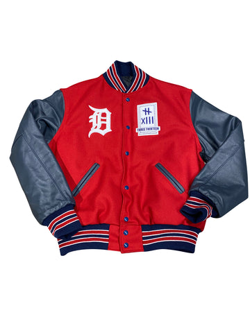 3-13 VARSITY JACKET RED-NAVY-WHITE